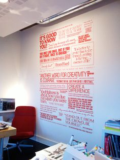 Quotes on a wall - office BrandYard