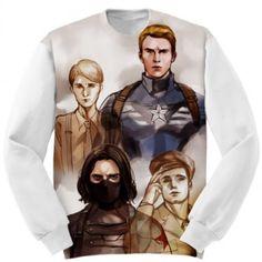 Apparel Sweatshirt Winter Soldier Marvel