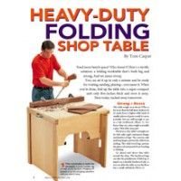 Complete Project Plans: Heavy Duty Folding Shop Table | ShopWoodworking