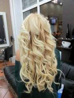 Long Blonde Curly Hair