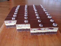 Čokoládovo-višňové rezy - recept