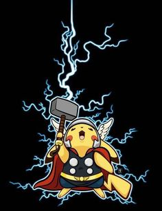 Thor: never in the nine realms have I ever met something as adorable or mighty as this tiny midguard creature. Me: ( trying not to burst out laughing as thor pets pikachu.) Thats how that would go! - Lainy P