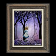 Alice in Wonderland Whimsical Art Print  Art  Print by RusticGoth, $13.00
