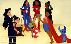 Blogger Ellephantidelli Turns Disney Characters Into the Avengers #comicbook #art trendhunter.com