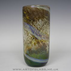 Isle of Wight Studio Glass Aurene vase, designed by Michael Harris