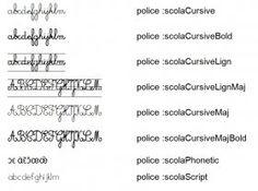 Librairie-Interactive - Polices décriture Scola (LaClasse)