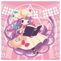 Yuru x Fuwa Patchouli Knowledge Cushion Cover | Touhou Project