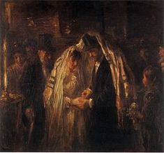A Jewish Wedding by Jozef Israels Joseph, La Haye, Wedding Painting, Wedding Art, Sign Of The Cross, Art Of Love, Dutch Painters, Jewish Art, Lost Art