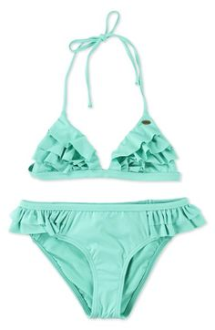 O'Neill+Ruffled+Two-Piece+Swimsuit+(Big+Girls)+available+at+#Nordstrom