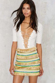Boheme Freaky Tiki Fringe Skirt | Shop Clothes at Nasty Gal!