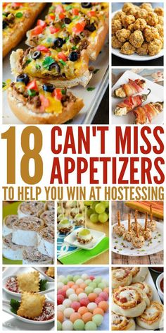 18 Party Appetizers to Help You Win at Hostessing Football seasson, labor day, end of summer parties, the time for them is upon us. Wow your guests with these tasty, unique appetizers. Holiday Party Appetizers, Cold Appetizers, Finger Food Appetizers, Easy Appetizer Recipes, Appetizer Dips, Make Ahead Appetizers, Easy Summer Appetizers, Easy Party Snacks, Summer Appetizer Party