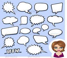 Speech Bubbles — Vector EPS #talk #conversation • Available here → https://graphicriver.net/item/speech-bubbles/74663?ref=pxcr