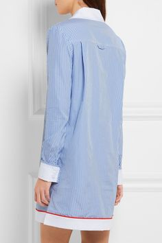 Carven | Striped cotton-poplin shirt dress | NET-A-PORTER.COM