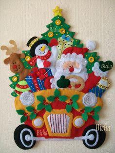 Christmas Tree Advent Calendar, Christmas Stocking Kits, Felt Christmas Stockings, Felt Christmas Ornaments, Christmas Crafts, Garland Hanger, Xmas Decorations, Felt Crafts, Door Hangings