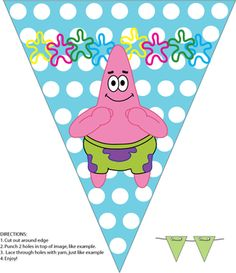 Banner, Spongebob, Party Decorations - Free Printable Ideas from Family Shoppingbag.com