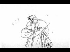 Marc Davis animation of Cruella De Vil. Some of the drawings are missing, so some frames are exposed on 3's or 4's to make up for the missing drawings. (the ...