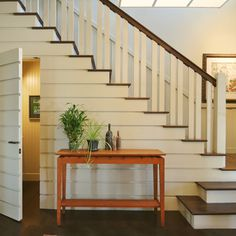Horizontal Paneling Stair Design Ideas, Pictures, Remodel, and Decor