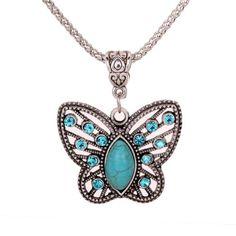 Yazilind Antique Hollow Tibetan Silver Butterfly Crystal Turquoise Pendant Chain Necklace YAZILIND http://www.amazon.co.uk/dp/B00GUFIGCI/ref=cm_sw_r_pi_dp_URegub1VSXTM1