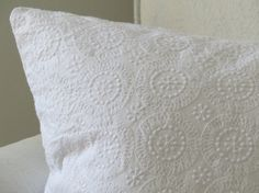 Vintage style pillow cover with medallion lace material. https://www.etsy.com/listing/463871152/white-shabby-chic-18x-18-pillow-cover?ref=shop_home_active_1
