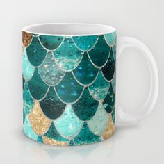 mermaid scales mug