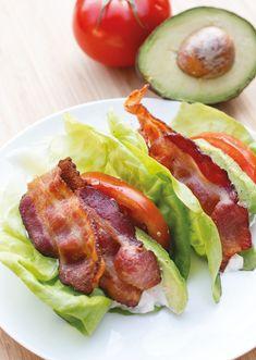 Lettuce wraps bacon lettuce wraps, lettuce recipes, lettuce ideas, ca Bacon Lettuce Wraps, Lettuce Wrap Recipes, Lettuce Ideas, Diet Recipes, Cooking Recipes, Healthy Recipes, Vegetarian Cooking, Low Carb Brasil, Healthy Snacks