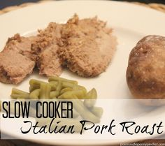 Slow Cooker Italian Pork Roast ~ easy way to make a Boston Butt Roast in your slow cooker!