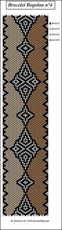 Peyote bracelet design with options.