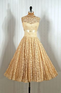 ~1950's Vintage Lace Dress~ I repeat, the 50's had some of the best dresses :)