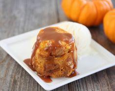 Pumpkin Bread Pudding Mug Cake | Kirbie's Cravings | A San Diego food blog