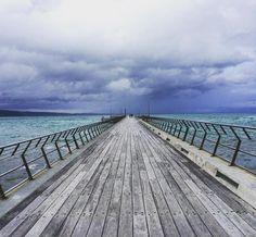 Chasing storms along the great ocean road #pier #storms #greatoceanroad #roadtrip #ocean by taraa.jade