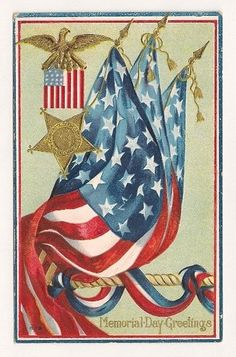 PATRIOTIC MEMORIAL DAY POSTCARD, unused