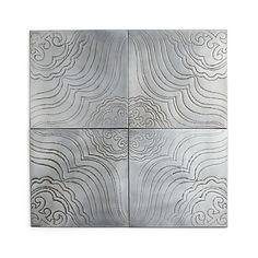 This art has the lines you like...could be cool in the sunroom. From crate and barrel