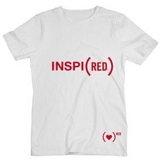 Inspi(RED) Tee White, $24, now featured on Fab - supports AIDS research