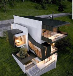 Morindo House Malang Modern Architecture Homes, Architecture House Design, Minimalist Architecture, Architecture Moderne, House Exterior Design, Residential Architecture, Amazing Architecture, Contemporary Architecture, Residential Lighting