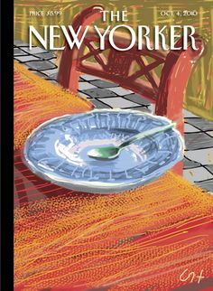 """The New Yorker - Monday, October 4, 2010 - Issue # 4374 - Vol. 86 - N° 30 - Cover """"The Breakfast Plate"""" by David Hockney"""