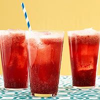 Cherry-Almond Sodas with real cherries and club soda
