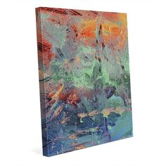"Click Wall Art 'Burning Skies' Print of Painting on Wrapped Canvas Size: 40"" H x 30"" W x 1.5"" D"