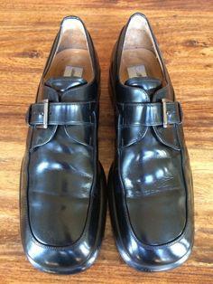 Mens Mezlan Monk Strap Dress Shoes Black Leather 9.5 M #Mezlan #LoafersSlipOns