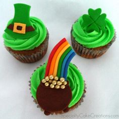St Patrick cupcake