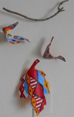 Fine Lines: Papier Mache Leaf Displays - 3 Variations