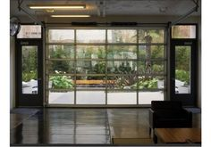 GlassCommercial - Full View Aluminum & Clear Glass Commercial Garage Door - Glass Garage Doors - Garage&Roll Up