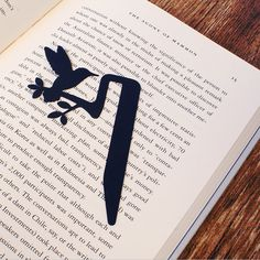 Jungle Bookmark, Bird black - Lazy Smith