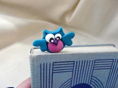 Owl Bookmark Animal in the Book Polymer Clay Owl by TwoOwlsAndACat, $13.00