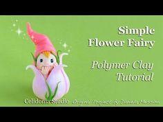 Fatina dei Fiori in Pasta Sintetica Tutorial - Polymer Clay Flower Fairy…