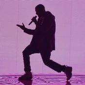 Drake backlit @ The Barclays Center in Brooklyn in NYC Monday 4th November 2013