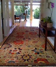 Woven Legends rug in a showcase house, by Kelly Mack of KellyMackHome.com