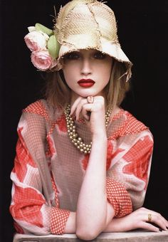 Patchwork Straw Hat