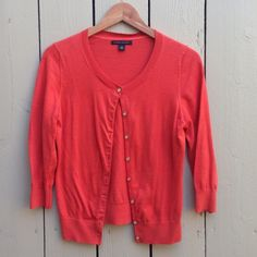 Banana Republic Orange Cardigan Sweater Sure to be a staple in your closet! Pre-owned, great condition. Banana Republic Sweaters Cardigans