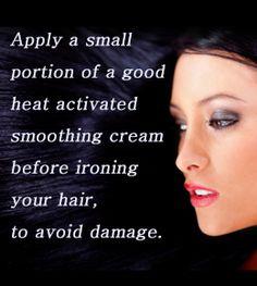 Tip for hair straightening