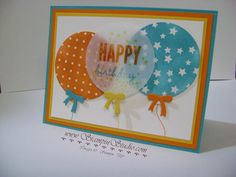 Stampin' Studio: Magic Balloons - Irresistibly Yours DSP from SAB and Balloon Framelits from Occasions.